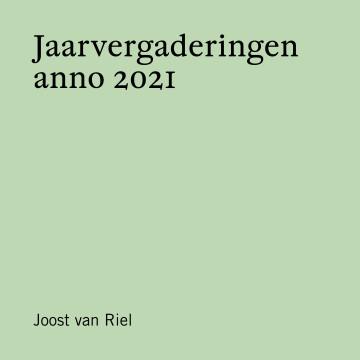 Jaarvergaderingen anno 2021