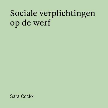 Sociale verplichtingen op de werf